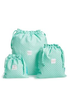 Thinking of the perfect gift for those who love to travel. These adorable drawstring bags couldn't fit the bill better. Organization is always key, especially when it comes to returning home and having so much laundry to do.