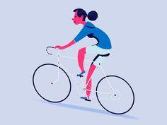 Biker for Nexmo by Michelle Ouellette #Design Popular #Dribbble #shots