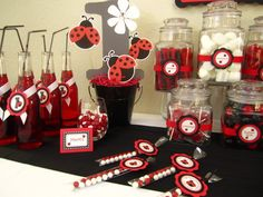 Ladybug Party  I'm so doing this for my daughters birthday party!