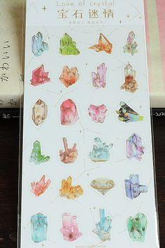 Kawaii Planner Sticker Set - Love of Crystal