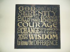 Serenity+Prayer+Sign++Sobriety+Saying++by+FarmhouseChicSigns,+$19.95