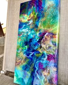 Absolutely love how this one turned out🤗 For some reasons the free flowy movements remind me of Greek mythology or some fantasy anime. Acrylic Pouring Art, Flow Arts, Resin Art, Resin Crafts, Large Wall Art, Stone Art, Abstract Art, Abstract Paintings, Art Techniques