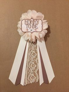 Arrow Boho Brown Ivory Lace Baby Shower Mommy-to-be Flower Ribbon Pin Corsage rhinestone mama to be mommy grandma aunt to be rustic burlap by afalasca on Etsy https://www.etsy.com/listing/273765434/arrow-boho-brown-ivory-lace-baby-shower