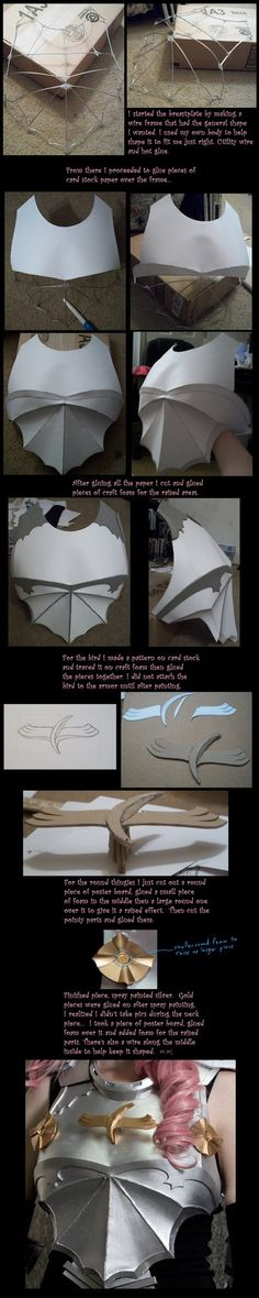 Brace yourselves! The MEGA tutorial is coming.  Part 1 Foam Shaping, Part 2 Foam Detailing, Part 3 Worbla You will need to view full size to read this monstrosity I hope this will help someone...