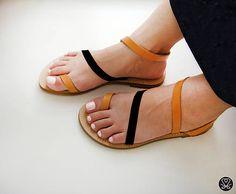 Kožené dámske sandále (handmade)