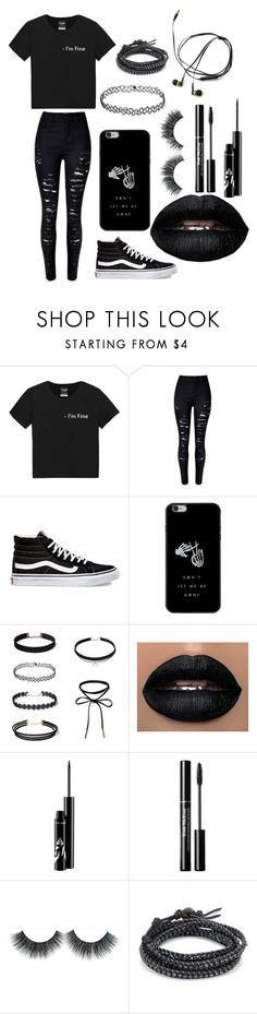 """""""i try hard to be edgy but i end up looking depressed"""" by mirandacolby ❤ liked on Polyvore featuring Vans and Chan Luu"""