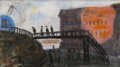 thunderstruck9:  Ragnar Sandberg (Swedish, 1902-1972), Lilla Bommen, 1942. Oil on canvas, 18 x 31 cm.