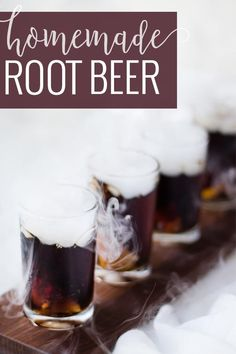 The kids go crazy for the dry ice fog effect! Homemade Rootbeer Recipe, Cocktail Recipes Homemade, Flavored Water Recipes, Beer Recipes, Recipies, Fermentation Recipes, Sparkling Drinks, Soda Recipe, Yummy Drinks