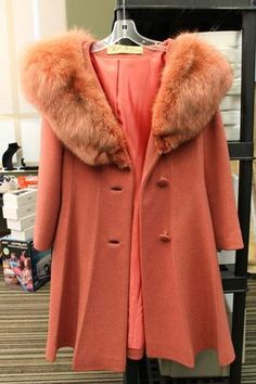 1960's Vintage PARIS - LILLI ANN - SAN FRANCISCO Dusty Rose Fox Fur Collar Coat | eBay