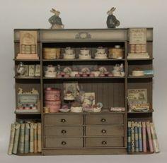 7a large shop cabinet filled