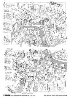Download als PDF: In der Stadt – Nordstadt Südstadt Suchbild 2 Seiten- Gandras