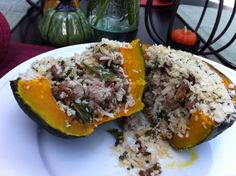 Sausage Stuffed Squash with Kale & Cranberries: A Broad Cooking