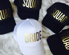Team Bride Cap / Squad Hat / Bachelorette Party / Hen's Party / Wedding / Bridesmaid / Hen Do / Hen Party / FREE delivery Bachlorette Party, Bachelorette Weekend, Bachelorette Ideas, Bachelorette Party Shirts, Perfect Wedding, Dream Wedding, Wedding Day, Wedding Ceremony, Wedding Venues