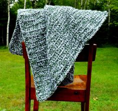 Soft and Thick Baby Blanket  Shades of Green by AbigailsAttic112