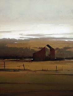 "2009, Winters Approach by Joseph Alleman Oil ~ 34"" x 26"""