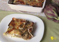 Parmigiana di carciofi e patate ricetta vegetariana il chicco di mais