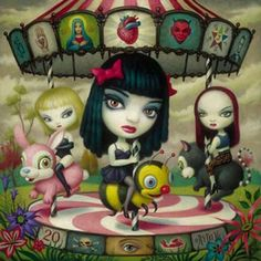 I love Surrealist Painting: D: Mark Ryden and his paintings.-- I love Surrealist Painting: D: Mark Ryden and his paintings. Mark Ryden, Art And Illustration, Portrait Illustration, Art Illustrations, Fashion Illustrations, Art Beat, Arte Lowbrow, Dark Wave, No Ordinary Girl