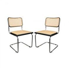 Paire de chaises Cesca B32 vintage de Marcel Breuer