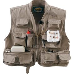 Fishing vest with pink bias tape one button closure for Cabelas fishing vest