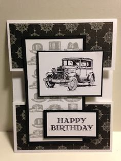 Guy Greetings, Masculine Birthday Card, Open Panel Technique, Stampin' Up!, Rubber Stamping, Handmade Cards