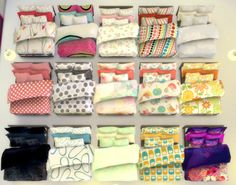 Lana CC Finds — selaronosims: Some FLUFFY blankets and pillows...