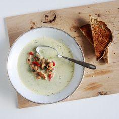 broccolisoep met kastanjechampignons en kalkoen #soep #lunch #naareigensmaak