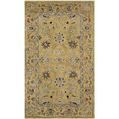 Safavieh Handmade Anatolia Oriental Golden Pear/ Smoke Hand-spun Wool Rug (3' x 5') (AN580C-3), Multi, Size 3' x 5'
