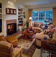 15 Warm and Cozy Country Inspired Living Room Design Ideas is part of Cozy Living Room Warm - We are not sure if you have noticed that most homes outside the city observe the use of country style Cozy homes with colorful drapes and sofas, comfy Traditional Living Room Furniture, Eclectic Living Room, Cozy Living Rooms, Home Living Room, Living Room Designs, Cottage Living Room Small, English Living Rooms, Southern Living Rooms, Cozy Family Rooms
