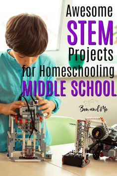 Add some major fun to your homeschool with these STEM projects for middle school! Teens thrive on project-based learning so why not include some of these projects in your student's curriculum. Homeschool Blogs, How To Start Homeschooling, Homeschooling Resources, Middle School Boys, Middle School Teachers, Stem Projects, School Projects, Stem Curriculum, Stem Activities