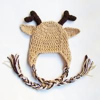 Reindeer Hat With Optional Earflaps  - via @Craftsy