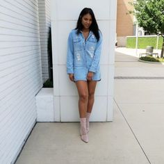 Bomb Product of the Day: Emmi and Reese's 'Boyfriend Distressed Denim' Dress