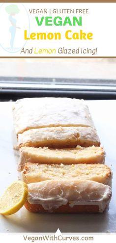 Lemon Loaf Pound Cake 🍋🍰(It's Vegan AND Gluten-Free!) - This vegan lemon cake is sweet, moist, fluffy, and it's gluten free! Plus it's topped wi - Gluten Free Diet Plan, Vegan Gluten Free, Gluten Free Recipes, Vegan Recipes, Dairy Free, Paleo, Detox Recipes, Dessert Oreo, Vegan Lemon Cake