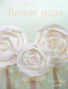 paper flower pops