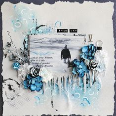 My Winter layout using Creative Embellishments Chipboard and Authentique Suave Collection papers