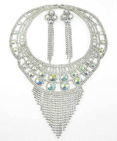 Amethyst Bridals - Maximum Glam Rhinestone Crystal Necklace Earring Set Bride Bridesmaid , $199.99 (http://www.amethystbridals.com/maximum-glam-rhinestone-crystal-necklace-earring-set-bride-bridesmaid/)