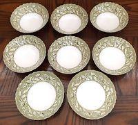 J & G Meakin Lucerne-Green Cereal Bowls Set of 6 Lucerne, Cereal Bowls, Bowl Set, Tea Lights, Olive Green, Candle Holders, Candles, Detail, Ebay