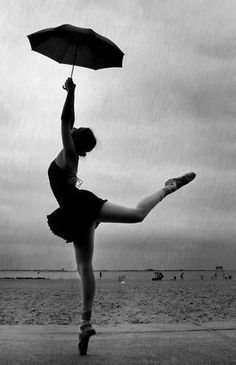 I absolutely love this picture! Rain...pointe....it's all there!!!