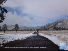 Enjoying the peace and quiet and snowy scenery at Buffalo Park in #Flagstaff, Arizona