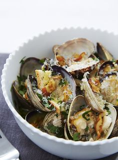 Lightened Up Clams Casino Recipe by Giada De Laurentiis www.giadaweekly.com @gdelaurentiis