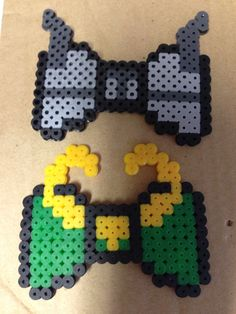 Thor and Loki perler bows. Thor is my own design.