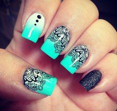 lace nail art - 45+ Lace Nail Designs  <3 !