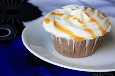 honey caramel cupcakes with goat cheese frosting