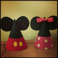 Mickey Mouse and Minnie Mouse Party hats