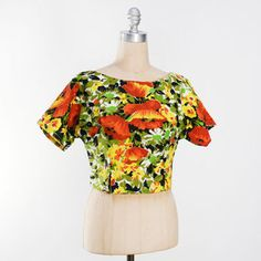 Painterly Floral Crop Top, $34, now featured on Fab.
