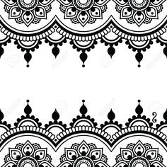 Mehndi, Indian Henna tattoo design - greetings card, lace ornament by RedKoala Mandala Tattoo Design, Henna Tattoo Designs, Henna Tattoos, Dotwork Tattoo Mandala, Mandala Drawing, Mandala Art, Mehndi Designs, Body Art Tattoos, Lace Tattoo