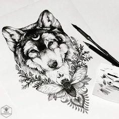 ✒ #wolf #sketch