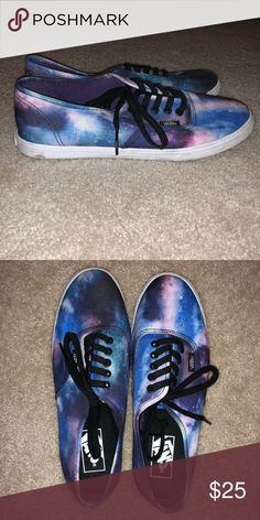Shop Women s Vans Blue Purple size 8 Sneakers at a discounted price at  Poshmark. Description  Vans Limited Edition Galaxy Sneakers bc08afe74