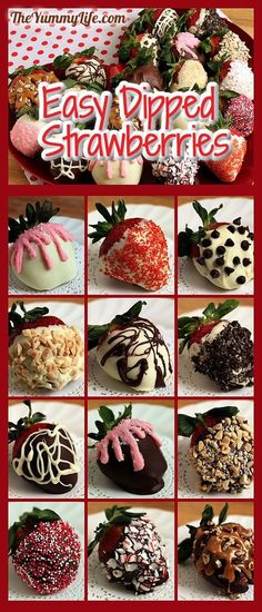 Easy DIY Chocolate Covered Strawberries that look like they came from a gourmet candy store. www.theyummylife.com/Chocolate_covered_strawberries