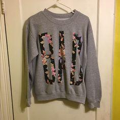 BAD Sweatshirt BAD floral sweatshirt purchased from PacSun. Sweaters Crew & Scoop Necks
