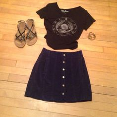 BDG corduroy button up mini skirt This BDG corduroy skirt snaps up and hits above mid thigh.  Stretchy corduroy material makes it very comfy to wear!  Pockets and belt loops add to the look.  Like new condition!  Fits true to size. Urban Outfitters Skirts Mini